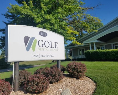 Gole Dental Office Sign - Gole Dental Group Hastings MI
